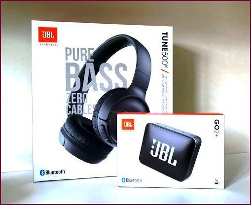 JBL Sound-Bundle 2.0 - Bluetooth-Box Go2+ und Kopfhörer Tune 500BT - Schwarz