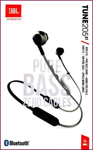 JBL TUNE 205BT Bluetooth In-Ear-Kopfhörer- Schwarz