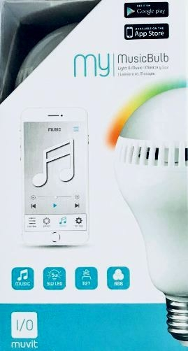 Muvit My MusicBulb - Mehrfarbige LED-Lampe mit integriertem Lautsprecher - Bluetooth
