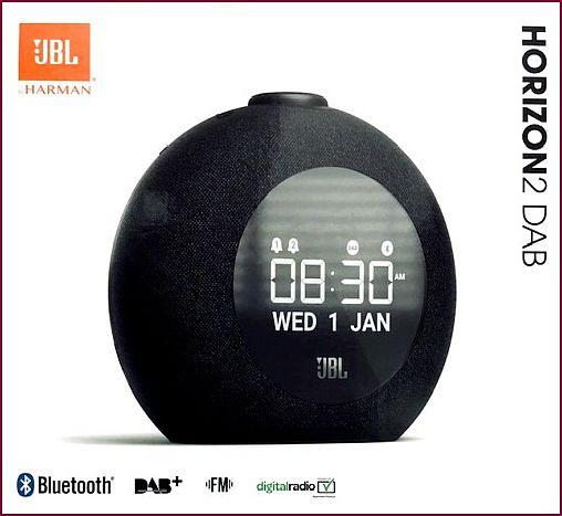 JBL Horizon 2 - DAB Bluetooth Radiowecker - Schwarz
