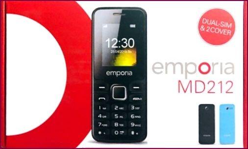 Emporia MD212 Dual-SIM Handy schwarz blau mit Taschenlampe